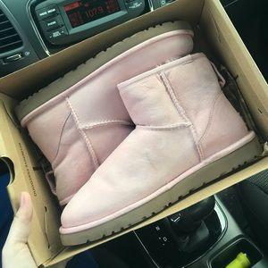 Pink mini UGG boots